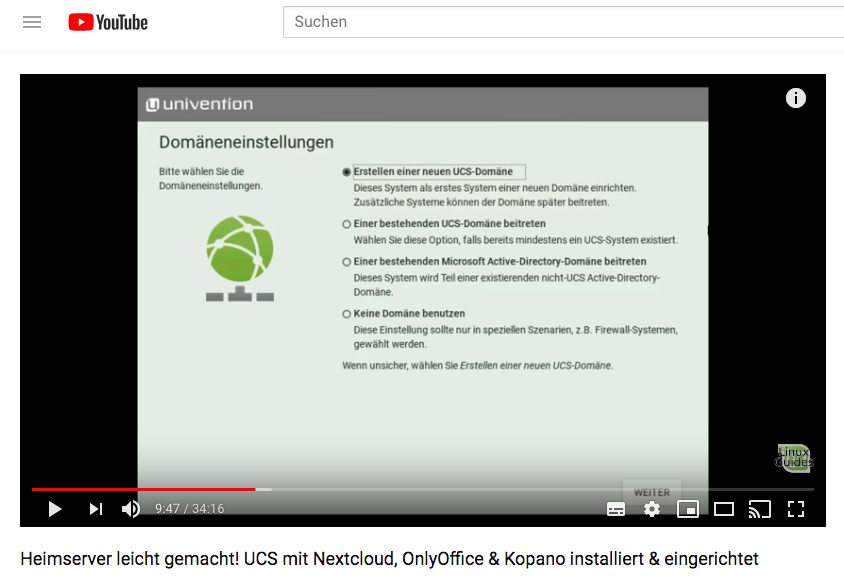 Zwei Stunden mit Univention Corporate Server 2