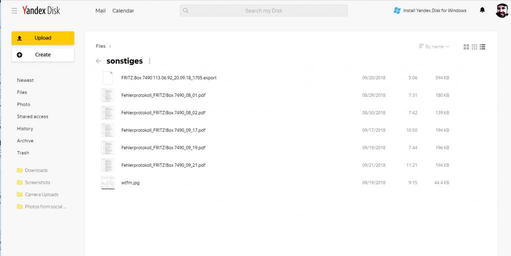 Keine Wolke aus Russland - Yandex.Disk fehlt im c't-Test der Cloud-Speicher-Dienste 3