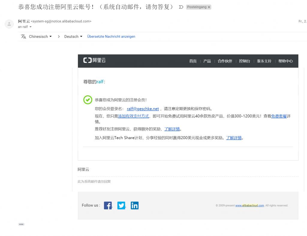 Cloud-Geschichten - Teil 2 - Alibaba und die 40 Services 7